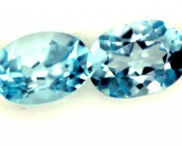 BLUE TOPAZ NATURAL FACETED (2 PC) 2 CTS  PG-1287