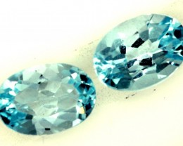 BLUE TOPAZ NATURAL FACETED (2 PC) 1.85 CTS PG-1262