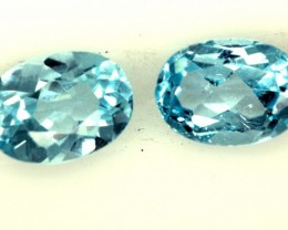 BLUE TOPAZ NATURAL FACETED (2 PC) 2.05 CTS   PG-1263