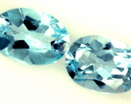 BLUE TOPAZ NATURAL FACETED (2 PC) 1.70 CTS  PG-1264