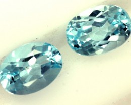 BLUE TOPAZ NATURAL FACETED (2 PC) 2.10 CTS  PG-1267