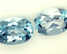 BLUE TOPAZ NATURAL FACETED (2 PC) 2.10 CTS  PG-1259
