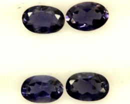 IOLITE FACETED STONE (2 PAIR) 1.50 CTS  PG-1289