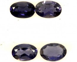 IOLITE FACETED STONE (2 PAIR) 1.60 CTS  PG-1290