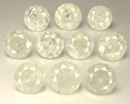 NATURAL FANCY-WHITE DIAMOND-2MMSIZE--10PCS,NORESERVE