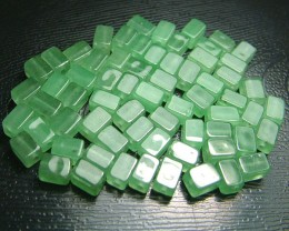 100% Natural Fancy Green Aventurine Beads B274
