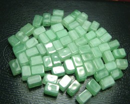 100% Natural Fancy Green Aventurine Beads B296
