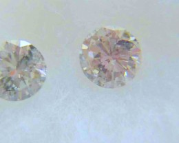 NATURAL- WHITE DIAMOND-0.25CTWSIZE-4MM-2PCS,NR