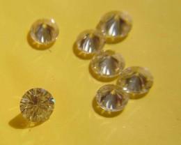 NATURAL WHITE DIAMOND-3MMSIZE-7PCSLOT-VS,NORESERVE