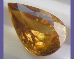 """""""AWESOME HONEY COLOURED TITANIUM SPHENE WITH RED SPARK!!"""""""
