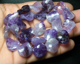 100% Natural Amethyst Fancy Round Beads B342