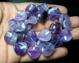 100% Natural Amethyst Fancy Round Beads B346