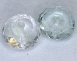 AQUAMARINE FACETED BEADS (2 PC) 5.55 CTS NP-1510