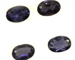 IOLITE FACETED STONE (2 PAIR) 1.30 CTS  PG-1327