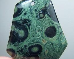 LIQUIDATION SALE~78ct Green Kambaba Jasper Pendant Bead