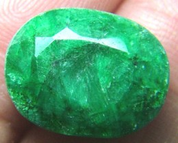 9.20CTS EMERALD BRIGHT GREEN FACETED SG-1010