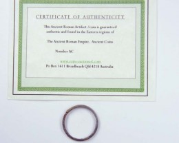 ANCIENT ROMAN ARTIFACT BRONZE WHOLE RING   OPAC1629