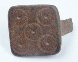 ANCIENT ROMAN ARTIFACT BRONZE  RING  TOP OPAC1636