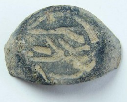 ANCIENT ROMAN ARTIFACT BRONZE  RING  TOP OPAC1648