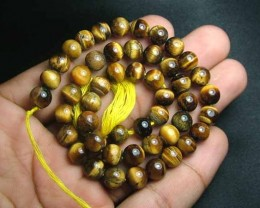100% Natural Tiger Eye  Round Beads  B554