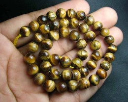 100% Natural Tiger Eye  Round Beads B559