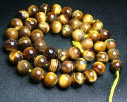 100% Natural Tiger Eye Round Beads B562