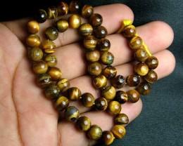 100% Natural Tiger Eye Round Beads B543