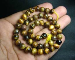 100% Natural Tiger Eye Round Beads B547