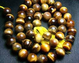 100% Natural Tiger Eye Round Beads B549