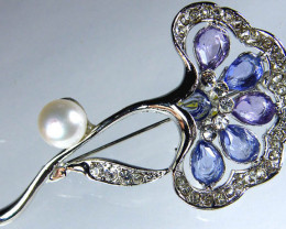 DESIGNED FRESHWATER PEARL PIN 63.5 CTS[SX14]