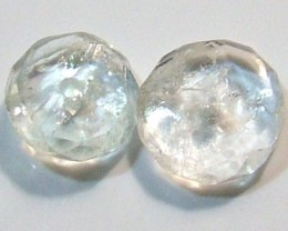 AQUAMARINE FACETED BEADS (2 PC) 3.55 CTS NP-1509