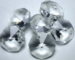 QUARTZ BEADS FACETED,DRILLED (6PC) 39.50CTS NP-1496