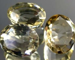 PARCEL 3PC GOLDEN TOPAZ FROM AFGHANISTAN  13.80 CTS  GW 415