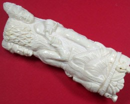 HAND CARVED ELEGANT SCULPTURE,CAMEL BONE CARVING TR124