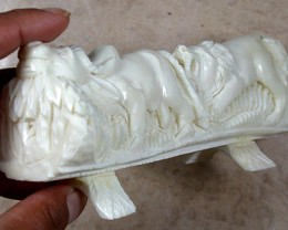 HAND CARVED ELEGANT SCULPTURE,CAMEL BONE CARVING TR140