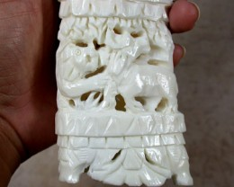 HAND CARVED ELEGANT SCULPTURE ,CAMEL BONE CARVING    TR146