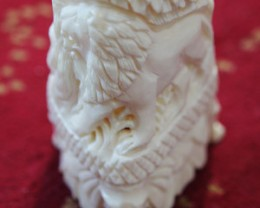 HAND CARVED ELEGANT SCULPTURE,CAMEL BONE CARVING TR166