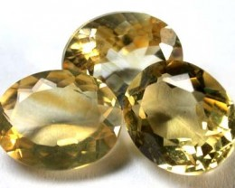 NATURAL CITRINE GEMSTONE PARCEL 3 PCS 7.40 CARATS EM 87