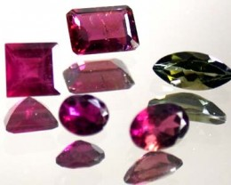PARCEL MIXED  TOURMALINE 5 PC   3.05  CTS  GW 593