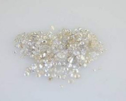 NAT-WHITEDIAMONDLOT-BROKENCHIPS-1MM SIZE-1CTWLOT-NR