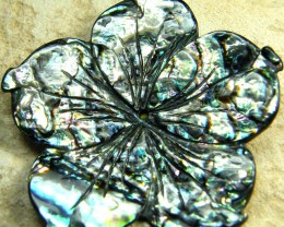 AUSTRALIAN ABALONE FLOWER CARVING 22.30 CTS [PF1598]