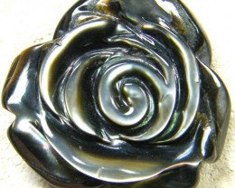 AUSTRALIAN ABALONE ROSE CARVING  11.45 CTS [PF1638]
