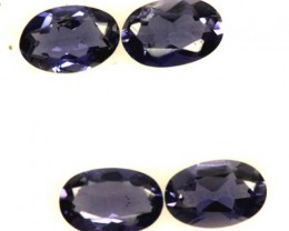 IOLITE FACETED STONE (2 PAIR) 1.50 CTS  PG-1316