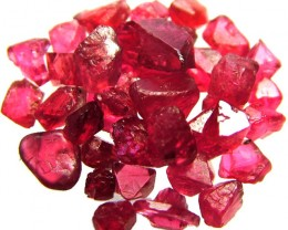 SPINEL  CRYSTAL ROUGH  PARCEL FROM MOGOK 23.75 CTS [F2280]