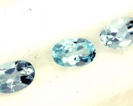 BLUE TOPAZ NATURAL FACETED (3 PCS) 1.40 CTS  PG-1337