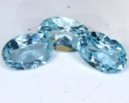 BLUE TOPAZ NATURAL FACETED (3 PCS) 1.35 CTS  PG-1336