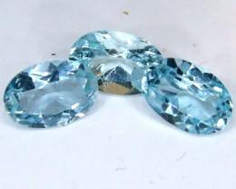 BLUE TOPAZ NATURAL FACETED (3 PCS) 1.35 CTS  PG-1336