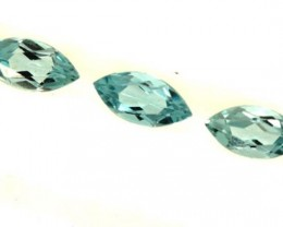 BLUE TOPAZ NATURAL FACETED (3 PCS) 1.40 CTS  PG-1387