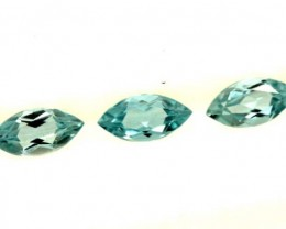 BLUE TOPAZ NATURAL FACETED (3 PCS) 1.30 CTS PG-1386