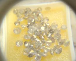 NATURAL WHITE DIAMOND-8-10PTS-SIZE-2CTWLOT,BRILLIANTLOT,NR